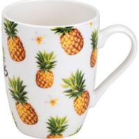 Caneca Abacaxi Colorida 330 Ml