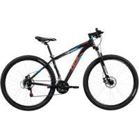 Mountain Bike Caloi Extreme - Aro 29 - Freio A Disco - Câmbios Shimano - 21 Marchas - Preto