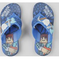 Chinelo Infantil Grendene Authentic Games Azul