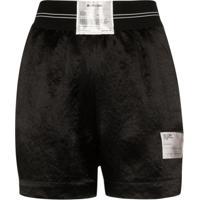 Helmut Lang Boxer Logo Patch Shorts - Preto