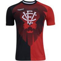 Camisa Do Vitória Aquecimento 2017 Topper - Masculina - Vermelho/Preto