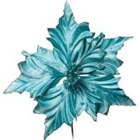 Flor Artificial Decoração Natal Flor Decorativa Verde