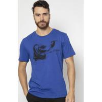 Camiseta ''Zoomp'' Abstrata- Azul Escuro & Preta- Zozoomp
