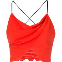 Manning Cartell Blusa Cropped - Vermelho