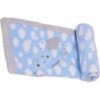 Cobertor Rolo Bordado Alvinha Azul Minasrey 5946