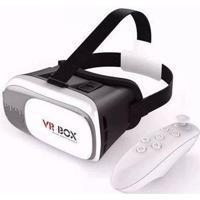 """Óculos De Realidade Virtual 3D Vr Box Para Android/Ios 4,2"""" A 6,0"""" Branco"""