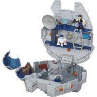 Veículo Com Mini Figuras Star Wars - Playskool Galaxy Hero - Millenium Falcon - Hasbro - Disney