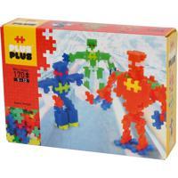 Blocos De Montar - Plus-Plus Robots Mini Neon 170 Peças