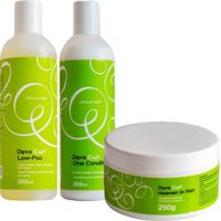 Deva Curl Heaven In Hair Kit - Low Poo + Condicionador + Máscara Hidratante Kit - Unissex-Incolor