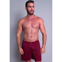 Short Pijama Curto Mvb Modas Masculino - Masculino-Vinho