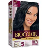 Tintura Biocolor Kit Creme 2.0 Preto Azulado Incrível