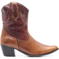 Bota Elite Country Dallas Fossil Feminina - Feminino-Marrom