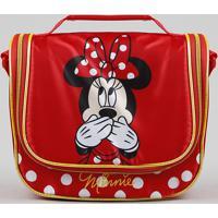 451c8c93c Porta Lanche Plástico. Lancheira Térmica Escolar Infantil Minnie Vermelha -  Único