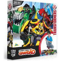 Quebra-Cabeça Grandão - Transformers - 120 Peças - Jak - Unissex-Incolor