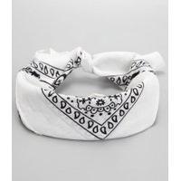 Bandana Estampada Paisley | Accessories | Branco | U