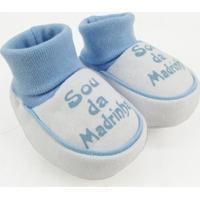 Pantufa Bebê Masculina Suedine Sou Da Madrinha Azul Claro - Masculino