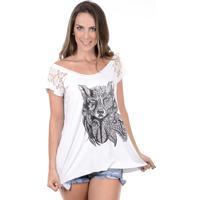 Blusinha Rogue Apparel Wolf Branca