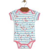 Body Hello Kitty® Listrado- Azul Claro & Brancohello Kitty