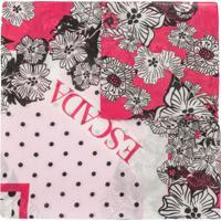 Escada Sport Echarpe Com Estampa Floral - Rosa