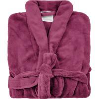 Roupão De Banho Microfibra Soft Feminino Camesa Vermelho - Grade