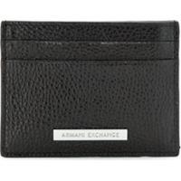 Armani Exchange Porta-Cartões De Couro - Preto