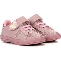 Tênis Infantil Krisle Coração Glitter Feminino - Feminino-Rosa