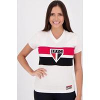 Camisa São Paulo Retrô 1980 Paulistão Feminina - Feminino