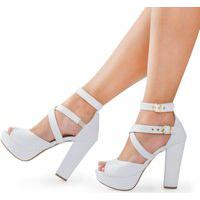 Sandália Modarpe Meia Pata Branco M21