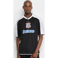 Camisa Do Corinthians Mundial S/Nº 2000 Masculina - Masculino-Preto