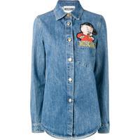 Moschino Camisa Jeans Porky Pig - Azul