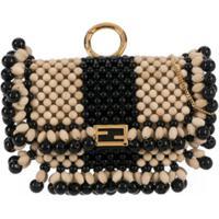 Fendi Nano Baguette Charm Crossbody Bag - Neutro