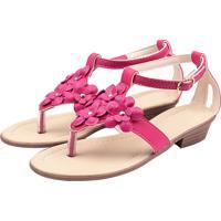 Sandália Infantil Raniel Calçados Gladiadora Salto Pink
