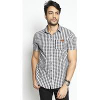 Camisa Shape Xadrez- Preta & Branca- Coca-Colacoca-Cola