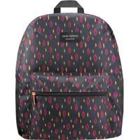 Mochila Com Tag & Bolso- Preta & Pink- 42X33X14Cmjacki Design