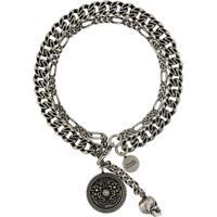 Alexander Mcqueen Skull Chain Bracelet - Prateado
