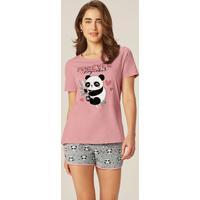 Pijama Rosa Panda Puff