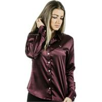Camisa Pimenta Rosada Anitta - Feminino-Roxo