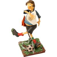 Escultura Decorativa De Resina O Jogador De Futebol
