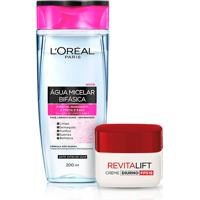 Kit L'Oréal Paris Água Micelar Bifásica 200Ml + Creme Diurno Antirrugas Dermo Expertise Revitalift Fps18 49G