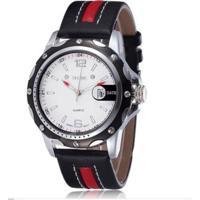 Relógio Skone Analógico Casual 9117B Vermelho