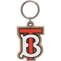 Burberry Chaveiro Com Monograma Tb - Marrom