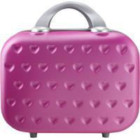Frasqueira Love Com Relevos- Rosa & Cinza- 26X31,5X1Jacki Design