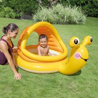 Piscina Infantil Caracol Preguiçoso 53L Amarelo 57124 Intex