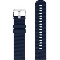 Pulseira De Silicone Tudo Smartwatch Para Xiaomi Amazfit Bip Lite Azul Escuro