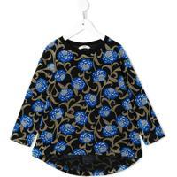 Fith Blusa De Jersey Floral - Azul