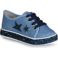 Tênis Infantil Estrelas Jeans