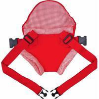 Canguru Click Bebê Passeio Vermelho Xadrez - Kanui