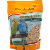Ração Para Pássaro Reino Das Aves Periquito Gold Mix Premium 500G