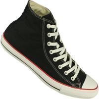 Tênis Converse All Star Chuck Taylor Cano Alto - Masculino-Preto+Vermelho
