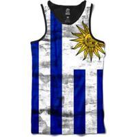 Regata Bsc Bandeira Uruguai Masculina - Masculino-Branco
